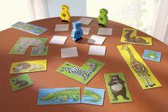 Viele Tiere - Ist die Maus kleiner als der Affe? Klar, aber der Affe ist kleiner als die Giraffe! Wer ein gutes Gedächtnis hat und schnell reagiert, kann die größten Tiere sammeln. Eine Spielesammlung für 2 - 6 Zoowärter. Mit Zuordnungsspiel für jüngere Kinder. (Artikelnummer 3482)