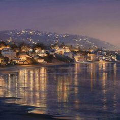 I have been to Laguna Beach, California and this is a beautiful view of it:)