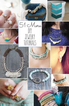 Looking for some fun women's fashion accessory and jewelry DIY project tutorials? You've found them! This is an amazing collection of 51 of the best jewelry DIY projects. All of these wonderful pieces of jewelry can be made at home with materials found from recycling and craft stores. Step up your collection of jewelry and … Continue reading »