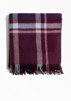 & Other Stories image 1 of Oversized Wool Scarf in Checked