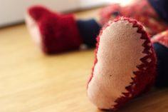 Crochet Slipper Boot with Sheepskin Sole | HOMEGROWN KITHCEN