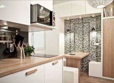 20 Genius Small-Kitchen Decorating Ideas - http://freshome.com/small-kitchen-decorating-ideas/
