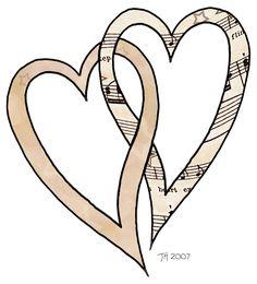 artbyjean clipart hearts | ArtbyJean - Vintage Sheet Music