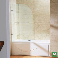 Looking to accentuate your curves? Then, this VIGO Orion Clear Curved Bathtub Door is the perfect choice for you! Enjoy its smooth lines while you shower, and swing the door out when its bath time for the little ones. The graceful curves of the glass door give it a custom feel while the convenient towel bar provides easy access to towels when it's time to dry off.