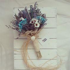 Marine Gelin Buketi Deniz konseptli doğal kurutulmuş çiçeklerle hazırlanan özel tasarım buketimiz