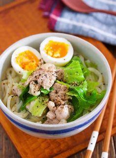 煮るだけ5分♪疲れた胃腸に♪『鶏肉とキャベツのうま塩うどん』 by Yuu | レシピサイト「Nadia | ナディア」プロの料理を無料で検索