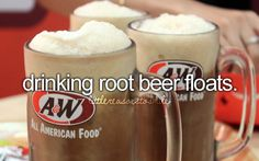 root beer floats with the twins... at A and also at home. Still have some glasses to make them, girls.