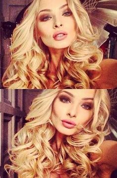 Beautiful Bouncy Blonde Curls