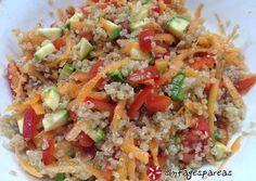 Σαλάτα κινόα πολύχρωμη Cooking Cake, Cooking Recipes, Healthy Recipes, Salad Bar, Light Recipes, Fried Rice, Salad Recipes, Food Processor Recipes, Food And Drink