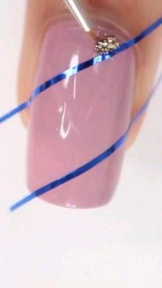 Nail Art Designs Videos, Nail Art Videos, Diy Nail Designs, Acrylic Nail Designs, Nail Art Hacks, Nail Art Diy, Diy Nails, Nail Art Tools, Nail Nail