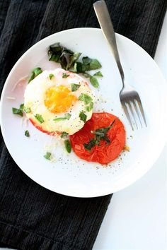 The 'Curvy Carrot' Baked Eggs in Tomato Cups - Add some appealing presentation to breakfast with the 'Curvy Carrot' Baked Eggs in Tomato Cups. By joining two fresh ingredients in hol...