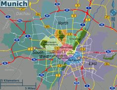 cool Munich Map Tourist Attractions | Places in 2019 ...