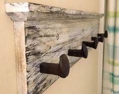 Railroad Spike Hook Hand Forged Double Hook by kniferiverknives
