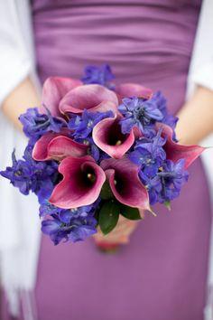 Two-tone purple wedding bouquet