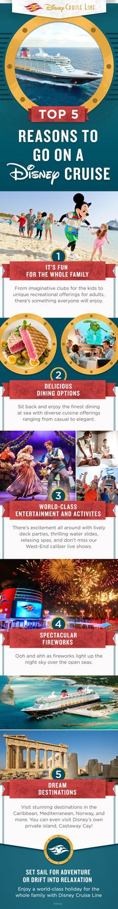 Discover the top 5 reasons to go on Disney Cruise and enjoy a world-class holiday for the whole family!