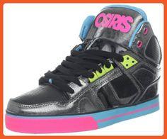 Osiris Women's NYC83 VLC Skate,Black/Pink/Cyan,7 M US - Athletic shoes for women (*Amazon Partner-Link)