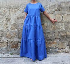 ideas style vestimentaire femme classe petite for 2019 Beautiful Maxi Dresses, Trendy Dresses, Casual Dresses, Summer Dresses, Boho Outfits, Fashion Outfits, Edgy Dress, Estilo Jeans, Blue Maxi