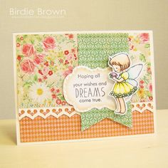 Dreams come true by Torico - Cards and Paper Crafts at Splitcoaststampers Digital Stamps, Cute Cards, Clear Stamps, Creative Inspiration, I Card, Cardmaking, Birthday Cards, Greeting Cards, Paper Crafts