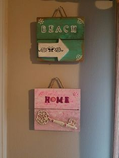 Small beach/home signs https://www.etsy.com/people/meganhanley523