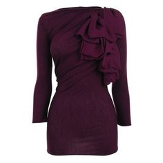 GIAMBATTISTA VALLI Silk ruffle long sleeve knit and other apparel, accessories and trends. Browse and shop 21 related looks. Ruffle Shirt, Knit Shirt, Boat Neck Tops, Dress Me Up, Chic, Dress To Impress, Long Sleeve Tops, Style Me, Feminine