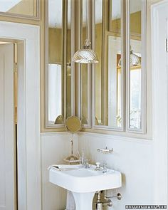Using mirrors to 'create' a window...Chapman Interiors Blog: tips + tricks: Mirror, Mirror on the wall..