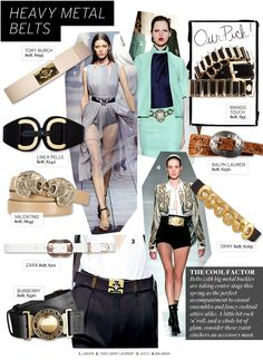 love the juxtaposition of pastel and heavy metal, or suits and metal accessories