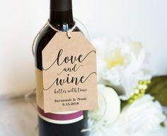Wine Tags Printable Wedding Favor Tags Template by VineWedding