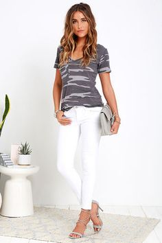 At Attention Grey Camo Print Tee at Lulus.com!