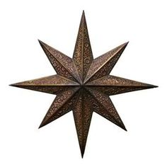 Metal star wall decor with weathered details.   Product: Wall dcorConstruction Material: MetalColor: BronzeDimensions: 27 Diameter x 3 D
