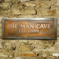 The Man Cave - sign for Mike - painted my way of course!! :-)