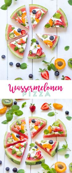 Schnell und einfach umzusetzen und eine leckere, gesunde Al… Watermelons pizza? Quick and easy to implement and a tasty, healthy alternative. The perfect recipe for hot summer days! Thanksgiving Appetizers, Thanksgiving Recipes, Pizza Recipes, Appetizer Recipes, Party Appetizers, Kids Meals, Easy Meals, Watermelon Pizza, Healthy Snacks