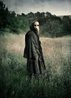 plague doctor...I've seen these mask before....slightly less pointed nose...still this would be uber creepy to see walking around during an outbreak of a plague