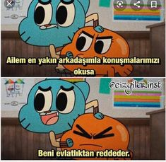 Kesinlikle okumamalii sakıncalı durum Ridiculous Pictures, Comedy Pictures, Im Depressed, Tumblr Boy, World Of Gumball, Meaningful Words, Funny Cartoons, Darwin, Disney Channel