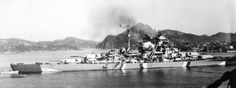 The Bismarck in Grimstadfjord, Norway, May 21, 1941.
