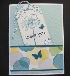Stampin' Up! Happy Watercolor stamp set, thank you Card