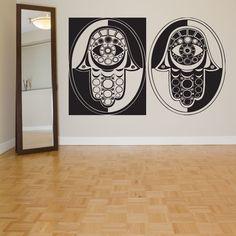 Wall Decor Vinyl Sticker Room Decal Art Hamsa Hand Eye Abstract AS045