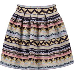 Tribal Print Flare Skirt ($9.99) ❤ liked on Polyvore featuring skirts, bottoms, saias, faldas, multicolor, tribal skater skirt, flared skirt, tribal print skirt, multicolor skirt and colorful skirts