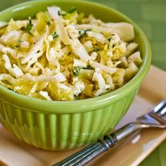 """This """"beyond coleslaw"""" Greek Cabbage Salad has Feta and Thyme."""
