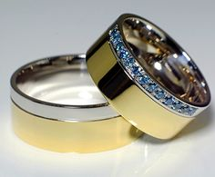 Blue stone wedding ring
