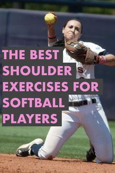 Learn these five strength training exercises for shoulder health, throwing velocity and pitching speed. Any softball player can quickly learn these workouts for softball and improve her game immediately. Softball Pitching Drills, Softball Memes, Softball Workouts, Softball Crafts, Softball Coach, Softball Shirts, Girls Softball, Fastpitch Softball, Softball Players