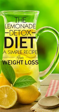 The Lemonade Detox Diet – A Simple Recipe For Weight Loss! The Lemonade Diet, also known as the master cleanse, is a diet resulting in r. Weight Loss Meals, Best Weight Loss, Healthy Weight Loss, Weight Loss Tips, Losing Weight, Weight Gain, Dieta Hcg, Detox Cleanse For Weight Loss, Two Day Cleanse
