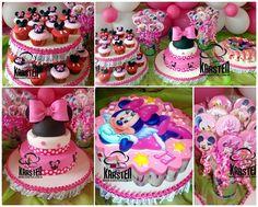 Torta, Gelatina, Galletas, CupCake´s de Minnie Mouse