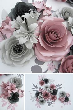 Dusty rose giant paper flowers look absolutely charming on the wall of baby girl nursery. Use them repeatedly as flower wall backdrop for baby shower. Volume large flowers will make your birthday garden party even more posh and trendy. Paper Flower Backdrop Wedding, Flower Wall Backdrop, Wall Backdrops, Wedding Flower Decorations, Paper Decorations, Backdrop Decor, Paper Garlands, Paper Flower Art, Large Paper Flowers