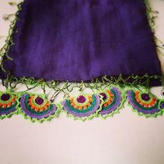 #efeoyası #fular #scarf #mor #purple #elemeği #handicraft #birgi #pamuk #cotton #turkey #ege