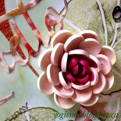 quilled water lily  - http://yogiemp.blogspot.ca/2015/04/mc-apr15-quill-water-lilly-hello-smile.html