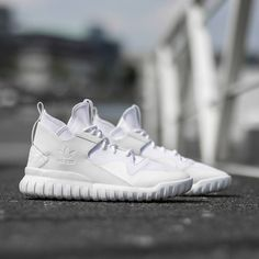 """""""Triple white heat coming in. The Tubular X 'Circular' drops Tuesday 9am CET online & in stores. #approved #adidas #adidasOriginals #Tubular"""""""