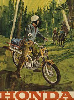 Vintage Advertising Posters   Honda motor cycles