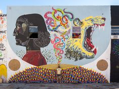 Collaboration with Gola and Zamoc at Vice Gallery - Wynwood, Miami 2014 Italian Street, Best Street Art, Street Art Graffiti, Street Artists, Urban Art, Kids Rugs, Wall Art, Gallery, Miami