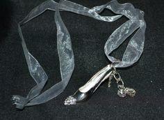 Silver Diamante Cinderella Shoe Keepsake