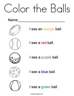 Color the Balls Coloring Page - Twisty Noodle Elementary Physical Education, Health And Physical Education, Preschool Education, Preschool Lessons, Classroom Activities, Teaching Kids, Letter B Coloring Pages, Sports Coloring Pages, Coloring Sheets